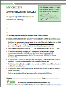 My Child's Attendance Goals