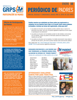 Download the January 2015 Newsletter (Spanish)
