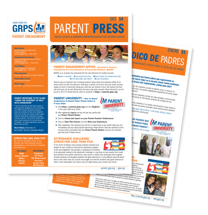 Sign up for the GRPS Parent Engagement newsletter