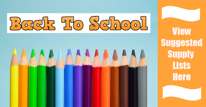 Back to School Suggested Supply List